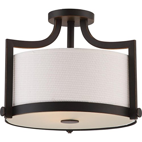 9-Light Fawn Chandelier Ceiling Light Fixture - Brushed Nickel Finish - Set of 1