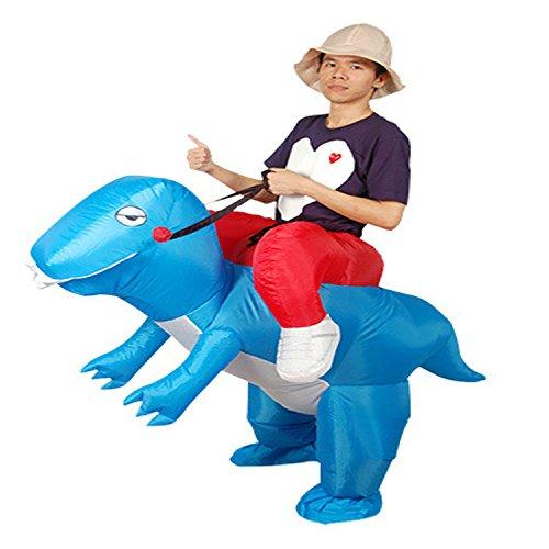 Wecloth Halloween Costume Inflatable Dargon Ride Red Dinosaur Unicorn T-Rex Halloween Party Dress Suit Fancy Costume (Child, Blue)