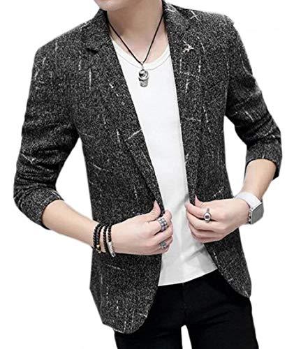 Élégant Costume Jacket Pour Slim 1 De Casual Targogo Fit À Business Revers Longues Schwarz Bouton Soirée Manches Hommes dIzBdwX