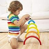 Lewo Wooden Rainbow Stacker Large Nesting Puzzle