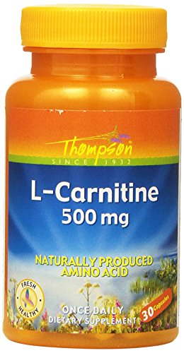 Thompson L-Carnitine , 500 Mg, Naturally Produced Amino Acid, 30Capsules