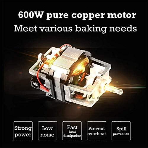 HLJ 600W elektrische mixer 6-speed Electric Keukenmengkraan Electric Keukenmengkraan met 4 L RVS Mengkom Splash Prot