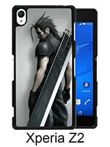 Fashionable Sony Xperia Z2 Case ,Unique Designed With Final Fantasy Soldier black Sony Xperia Z2 Cover High Quality Phone Case