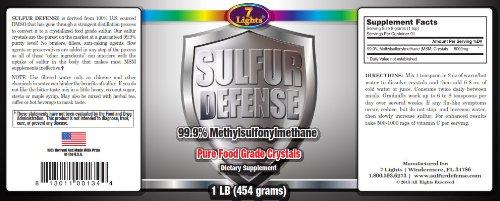 Sulfur Defense (Granulated MSM Crystal Flakes 3-pack)