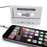 Aicheche Car Audio aux Cassette Adapter (White)