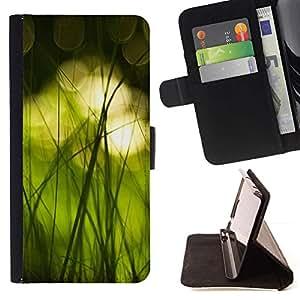 Momo Phone Case / Flip Funda de Cuero Case Cover - Naturaleza Hermosa Forrest Verde 16 - Samsung Galaxy J1 J100