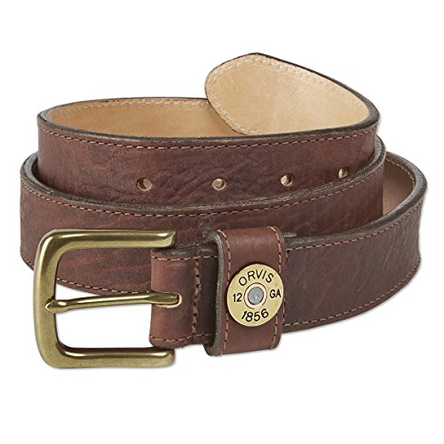 Orvis Bison Leather Shotshell Belt, Brown, 36
