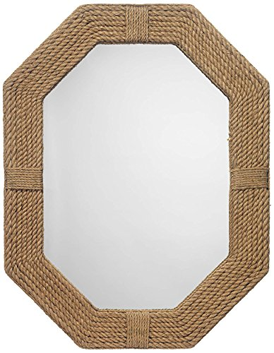 Large Nautical Jute Mirror For Bathroom | Nautical Roped Wall Mirror Home -