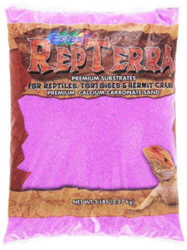 Estes Gravel Products SES61205 5-Pack RepTerra Reptile Calcium Carbonate Sand, 5-Pound, Purple by Estes'