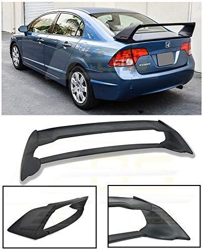 Extreme Online Store for 2006-2011 Honda Civic Sedan Models   EOS Mugen RR Style ABS Plastic Primer Black JDM Rear Trunk Lid Wing Spoiler
