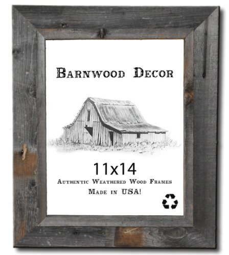 11x14 Picture Frames - Signature Barnwood Reclaimed Wood Photo Frames