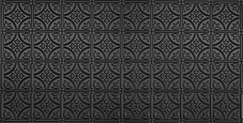 Global Specialty Products 209-06 Traditional Tin Style Panels For Glue-Up Installation, Matte Black by Global Specialties