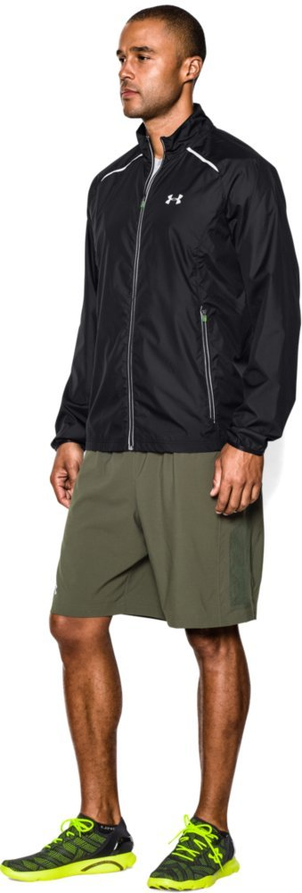 Under Armour Men's Storm Launch Run Jacket, Black (001)/Reflective, Large by Under Armour (Image #5)