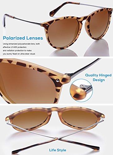 Protection Polarisées de Tortue UV Lunettes Gradient Carfia Femmes de Cadre wayfarer Cateye Brun soleil Lunettes 100 Lentille rqr1C84