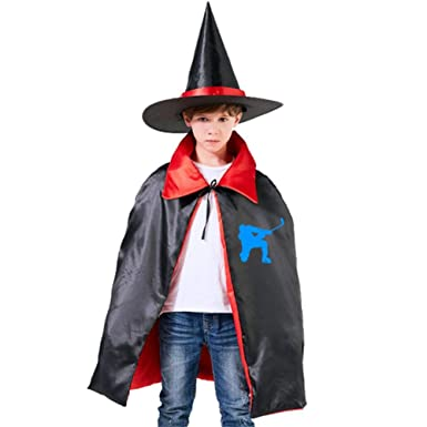 Amazoncom Kids Cloak Cool Hockey Wizard Witch Cap Hat Cape Diy