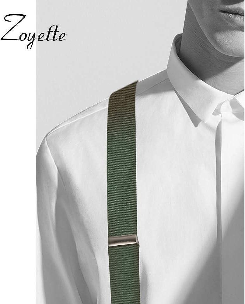 Zoyette Hommes Bretelles Bretelles Pour Hommes 6 Boucles Y Retour Ray/é Heavy Duty Hommes Bretelles Durable /Élastique R/églable Bretelles Forte En M/étal Clips