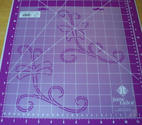 """6.5"""" Butterfly & Dragonfly Scroll Quilting Stencil"""