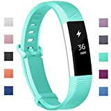 "Fundro Fitbit Alta Bands, Soft Silicone Replacement Classic Bands Available in Varied Colors with Secure Buckle for Fitbit Alta HR and Fitbit Alta (C# 1-Pack Teal, Small (6.2""-7.1""))"