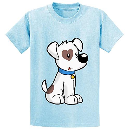 Dog Chirldren Design Lovely T Shirts L-blue (Old Spice T-shirt)