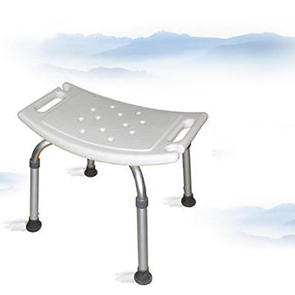 シャワースツール\\シャワーチェア バスルームスツールアルミシャワーチェア障害援助ノンスリップバスチェア、高齢者、身体障害者、妊婦、高さ調節可能 バスシートベンチ\\バススツール (色 : B) B07DXKX8LP B B