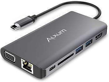 Alxum 8-in-1 Type C Hub for MacBook/Pro/Air