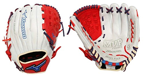 Mizuno GMVP1200SE4 MVP Prime SE Gloves, Silver/Red, Right Hand Throw