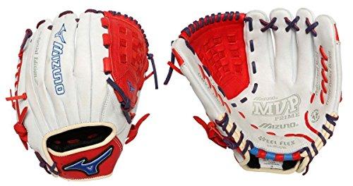 Mizuno GMVP1200SE4 MVP Prime SE Gloves, Silver/Red, Right Hand Throw