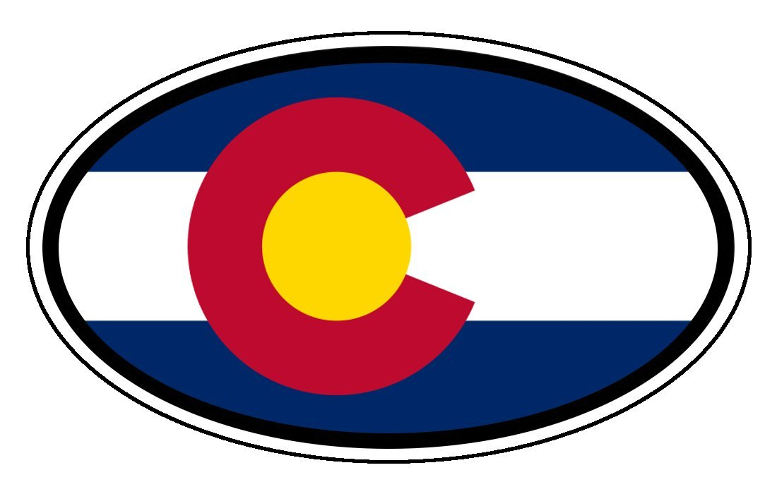 Amazon com colorado state flag car bumper sticker decal oval automotive