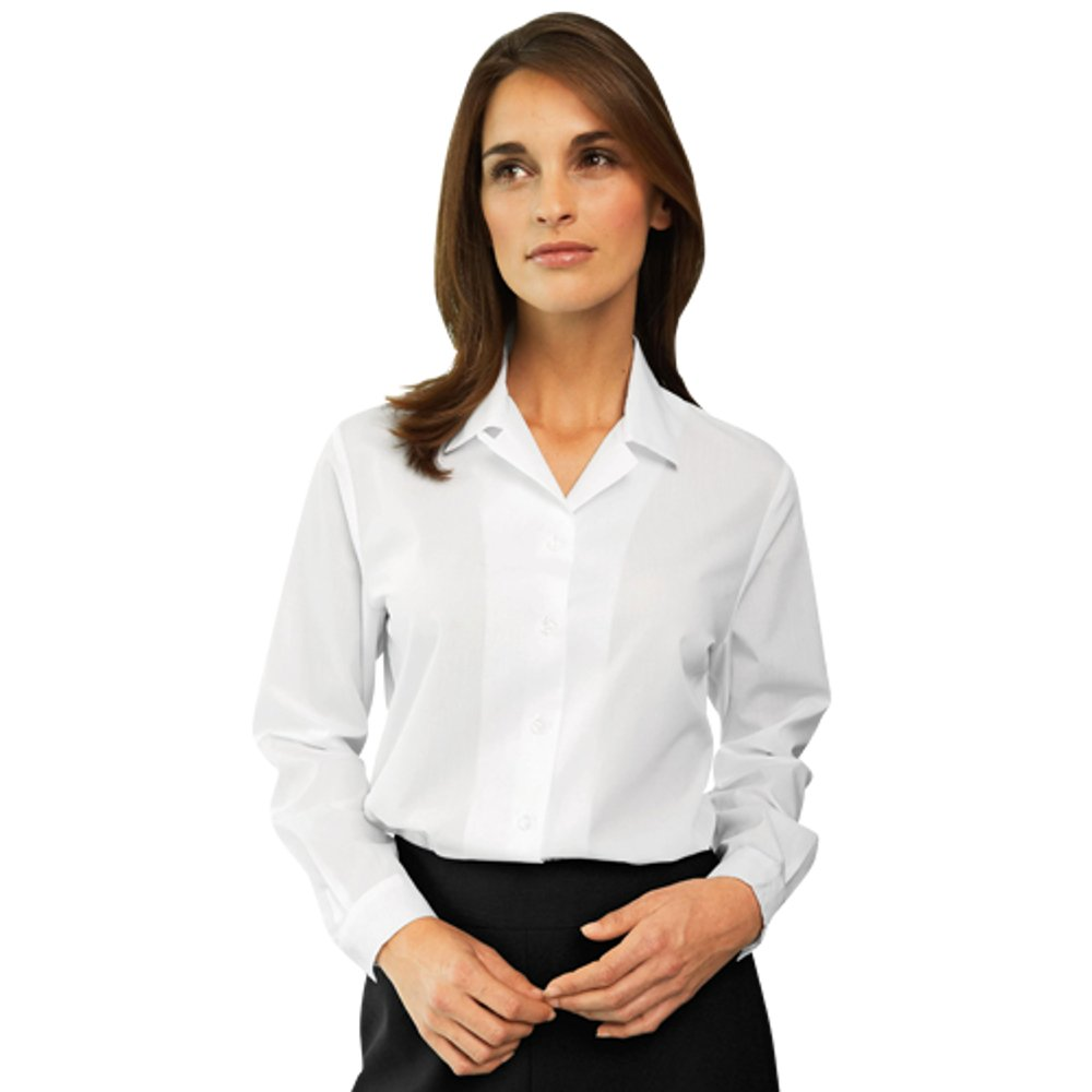 26811e6959e Simon Jersey Womens Ladies Blouse Plain White Shirt Office Work Formal  Uniform Smart Short Sleeve / Long Sleeve Plus Sizes UK 8-22