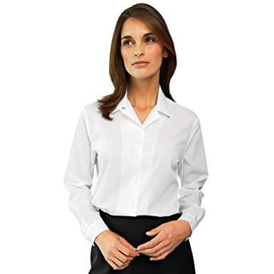 4c873985b4e Simon Jersey Womens Ladies Blouse Plain White Shirt Office Work Formal  Uniform Smart Short Sleeve