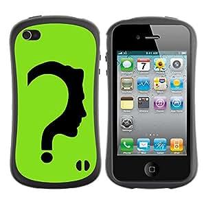 Suave TPU GEL Carcasa Funda Silicona Blando Estuche Caso de protección (para) Apple Iphone 4 / 4S / CECELL Phone case / / The Riddler /