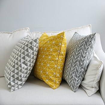 TAOSON Gray/Gay Arrow Geometry Pattern Cotton Flax Soft Home Decorative Throw Cushion Cover Pillow & Amazon.com: Elviros Linen Cotton Blend Decorative Scandinavian ... pillowsntoast.com