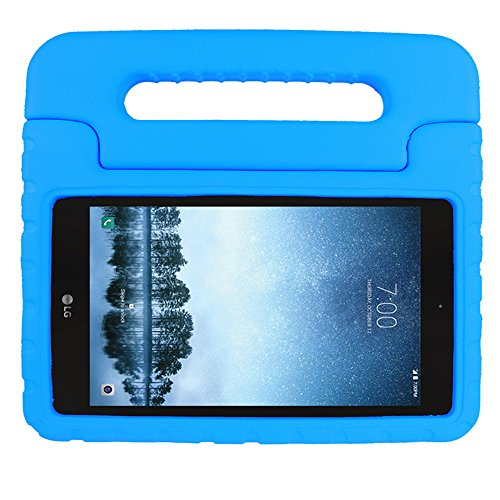 (SIMPLEWAY LG G Pad F2 8.0 Case [Not Support Extra Battery Plus Pack], Lightweight Kid-Proof Handle Stand Cover Compatible with LG GPad F2 8.0 Sprint LK460 8-Inch Android Tablet 2017 Release (Blue))