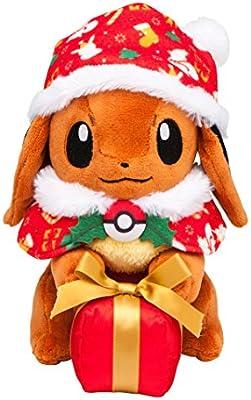 Christmas Eevee.Pokemon Center Original Stuffed Eevee Christmas Gift Box Ver