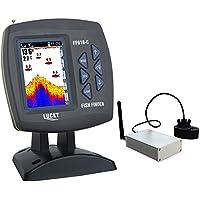 LUCKY Fish Finder Pantalla LCD DE 3,5 Pulgadas inalámbrico Mando a Distancia para Kayak Pesca Alarma de 300 M/980ft…