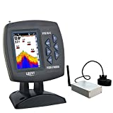 LUCKY FF918 Sonar Boat Fish Finder Wireless 300M/980ft 90 Degrees Beam Angle 3.5 inch Color TFT LCD Fish Finders And Other Electronics LUCKY