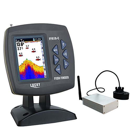 LUCKY FF918-CWLS Wireless Remote Control Boat Fish Finder 300m/980ft wireless operating range