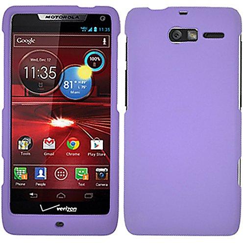 Purple Rubber Hard Rubberized Case Cover For Motorola Droid Razr M XT907 Razor with Free Pouch