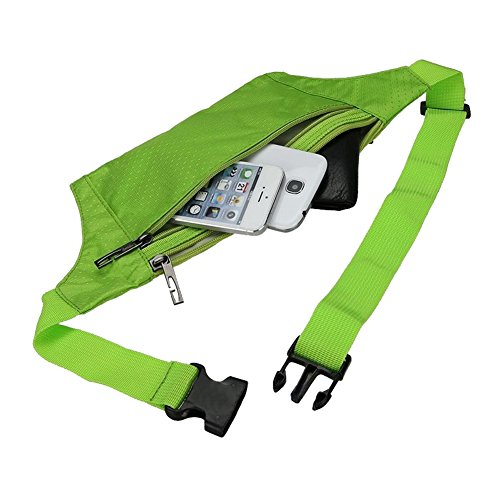 Foremost Unisex Handy Best Sports Belt for Runners,waist Pack/pouch, Fanny Pack, Travel Money Belt. (Green) by Unknown (Image #4)