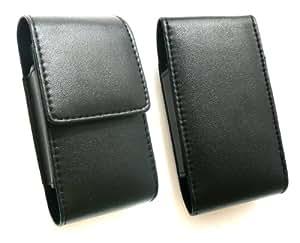 Emartbuy ® Negro Premium De Cuero Pu Diapositivas En Bolsa / Caja / Manga / Soporte Con Solapa Botón Adecuada Para Sony Xperia Tipo