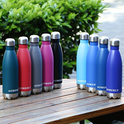 AOMERLY-Insulated-Water-Bottle-Double-Wall-Vacuum-Stainless-Steel-Water-Bottle-Swell-Cola-Shape-No-sweating-BPA-Free-Keeps-Cold-Hot-17oz