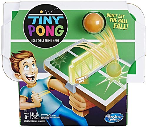 Tiny Pong Solo Table Tennis Kids Electronic Handheld Game Ages 8 and Up (The Game Table)