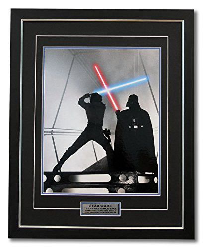 Star Wars Jedi Lightsaber Battle Darth Vader vs Luke Skywalker 31x25 - Luke's Frame Shop