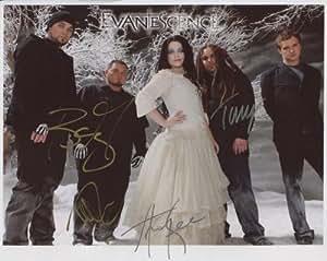 """Evanescence (banda) incluye Amy Lee totalmente firmado 8""""x 10"""" fotos + certificado de authentication100% auténtica"""