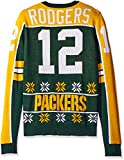 KLEW NFL Green Bay Packers Rodgers A. #12 2015 Player Ugly Sweater, Medium, Green