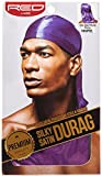 #10: RED BY KISS Premium Silky Satin DURAG Men's Cap Doo RAG (Purple)
