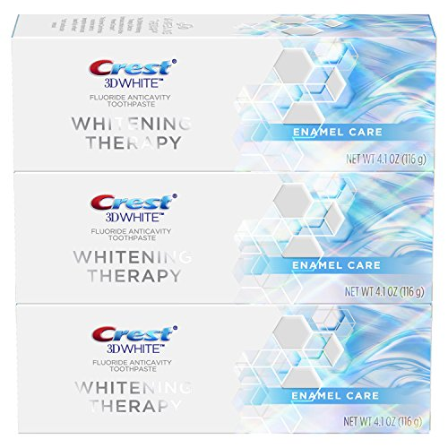 Crest 3D White Toothpaste Whitening Therapy Enamel Care, 4.1 Ounce, Pack of 3