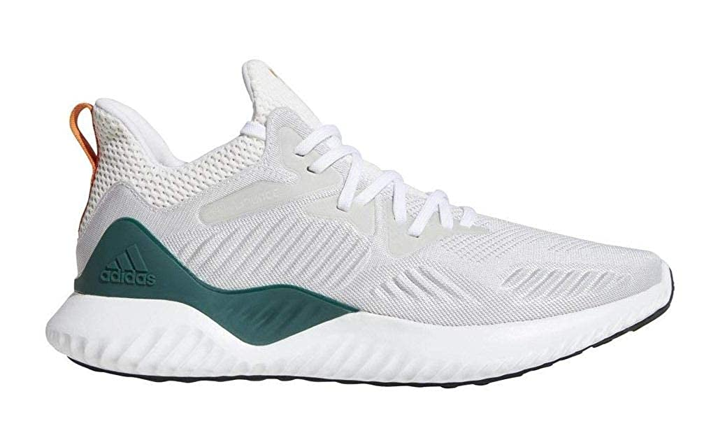 adidas Alphabounce Beyond NCAA Shoe - Men's Running 8.5 White/Dark Green