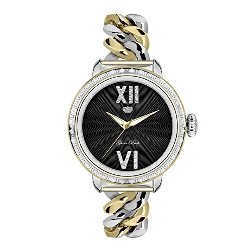 Glam Rock Women's Bal Harbour 40mm Two Tone Steel Bracelet Gold Plated Case Swiss Quartz Watch GR77039
