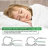 LINKYO Toddler Pillow - Hypoallergenic 100% Non-GMO Cotton Cover